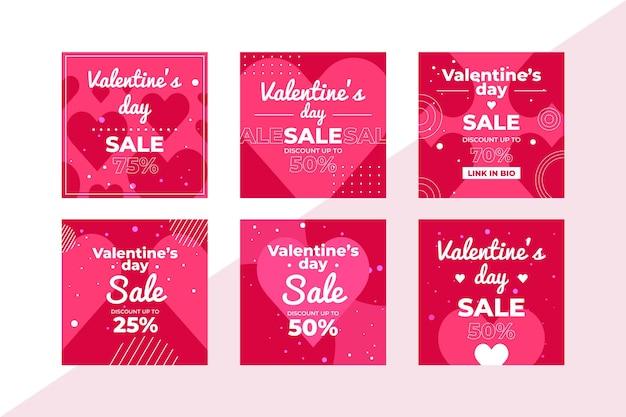 Walentynki Sprzedaż Po Kolekcji Darmowych Wektorów