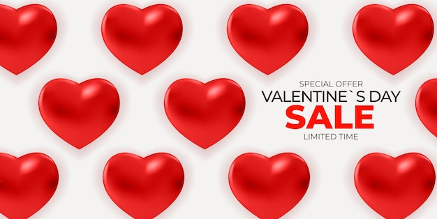 Walentynki Sprzedaż Transparent Tło. Premium Wektorów