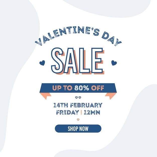 Walentynki Sprzedaż W Płaskiej Konstrukcji Darmowych Wektorów