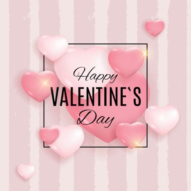 Walentynki tło projektu miłości i uczuć Premium Wektorów