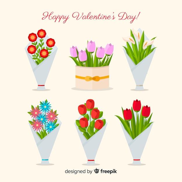 Walentynki Wieńce I Bukiety Kwiatowe Darmowych Wektorów