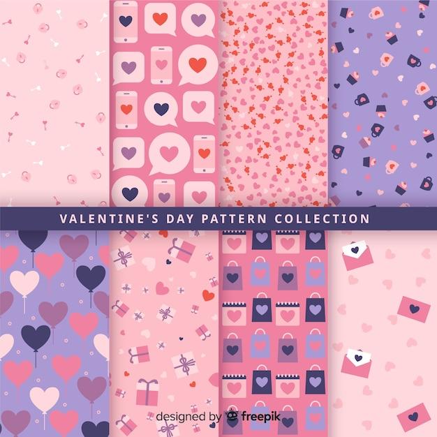 Walentynki wzór kolekcji Darmowych Wektorów