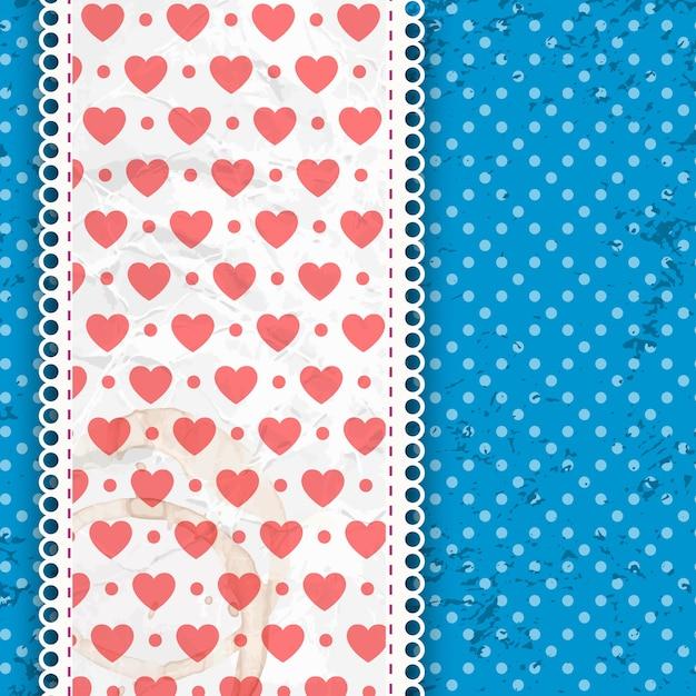 Walentynki Wzór Niebieski Na Białe Kropki I Zespół Z Ilustracji Wektorowych Tkaniny I Falbanki Darmowych Wektorów