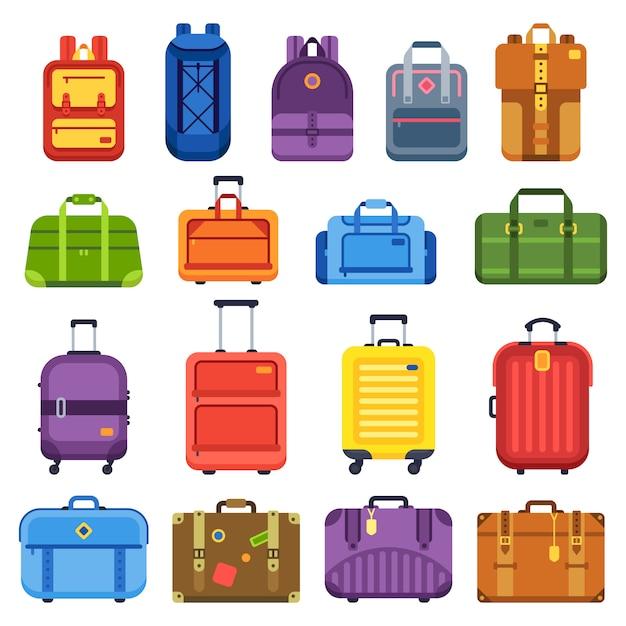 Walizka bagażowa Premium Wektorów