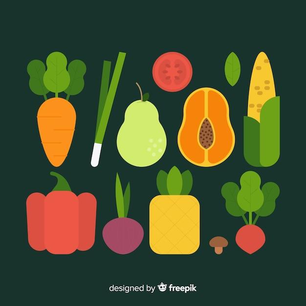 Warzywa i owoce Darmowych Wektorów