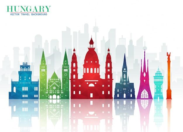 Węgierski Dokument Landmark Global Travel And Journey Premium Wektorów