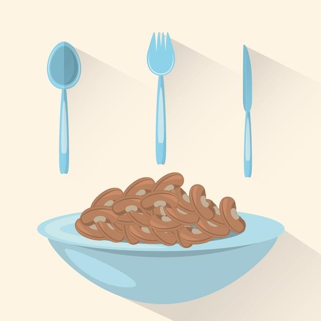 Węglowodany Jedzenie Zdrowe Odżywianie Obrazu Premium Wektorów