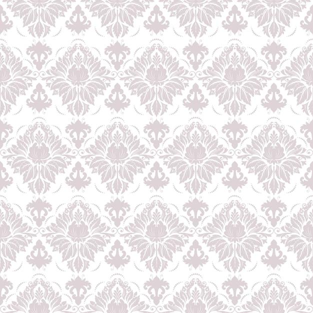 Wektor adamaszku bez szwu deseń tła. Klasyczny luksusowy staromodny adamaszku ozdoba, royal victorian bezszwowych tekstur do tapet, tekstylia, opakowanie. Wyrafinowany szablon barokowy kwiatowy. Darmowych Wektorów