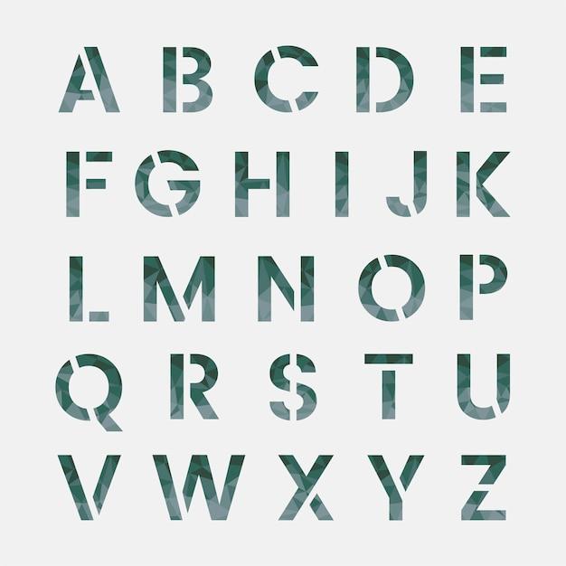 Wektor alfabetu angielskiego alfabetu Darmowych Wektorów