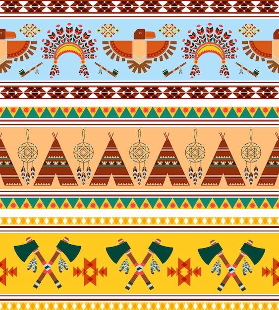 Wektor Bez Szwu Plemiennych Etniczne Vintage Darmowych Wektorów