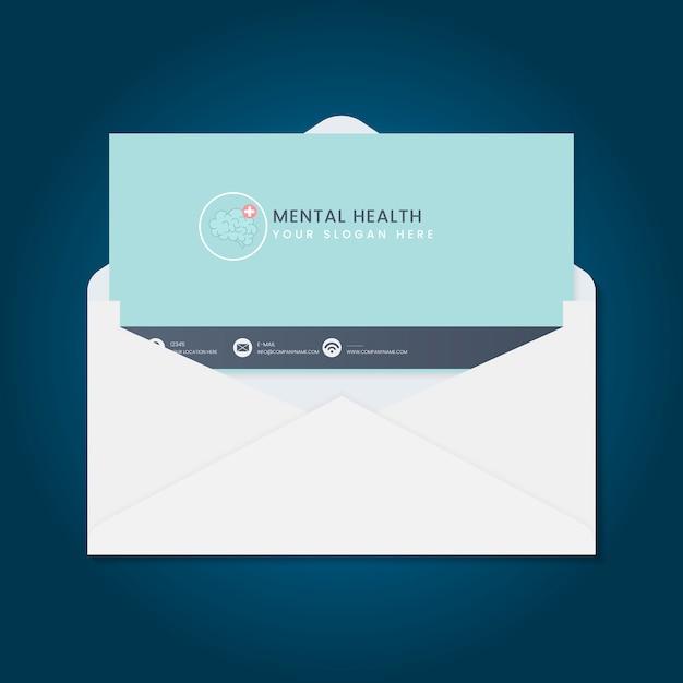 Wektor broszura reklama zdrowia psychicznego Darmowych Wektorów