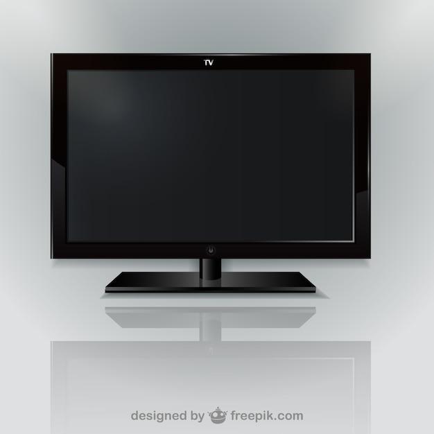 Wektor czarny telewizor Darmowych Wektorów