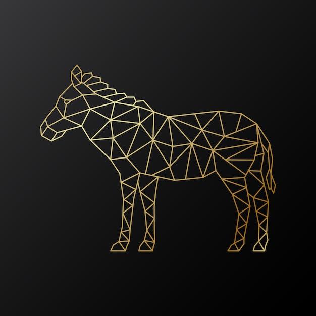 Wektor Geometryczne Godło Zebra. Premium Wektorów