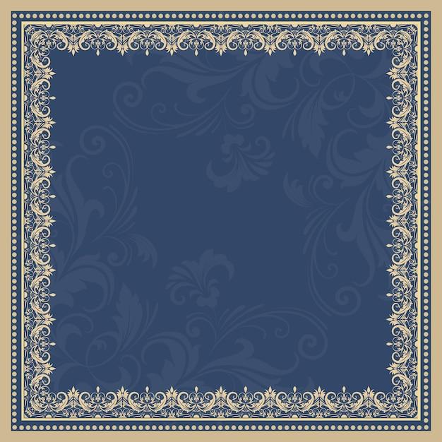 Wektor grzywny kwiatu ramki kwadratowych. element dekoracyjny na zaproszenia i karty. element granicy Darmowych Wektorów