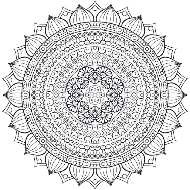 Wektor Indian Mandala Darmowych Wektorów