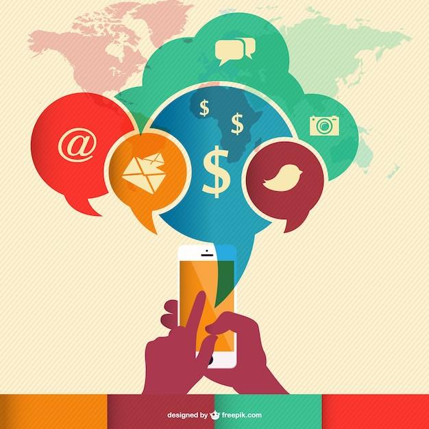 Wektor Infografiki Technologii Komunikacji Darmowych Wektorów