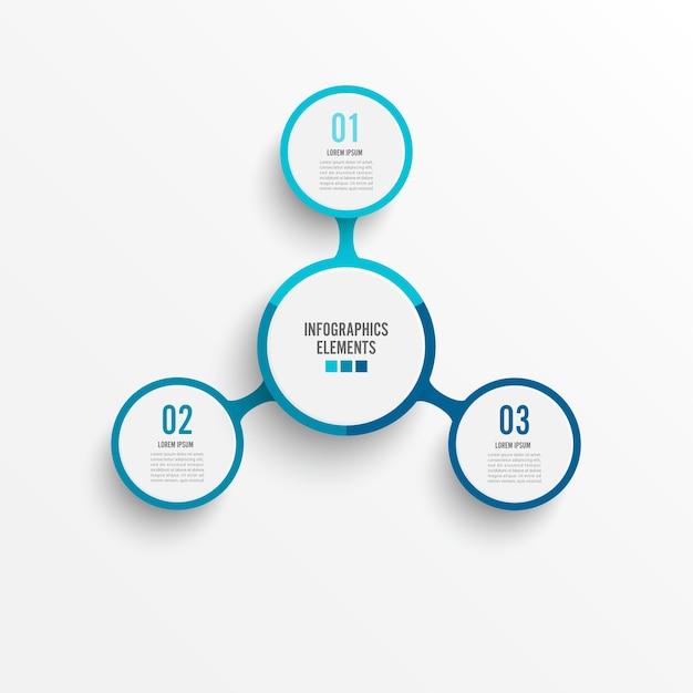 Wektor infographic szablon Premium Wektorów