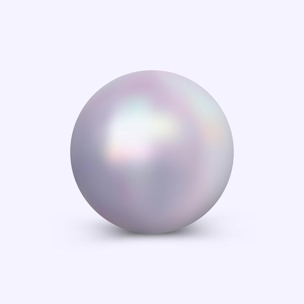 Wektor jasny perła na białym tle Premium Wektorów