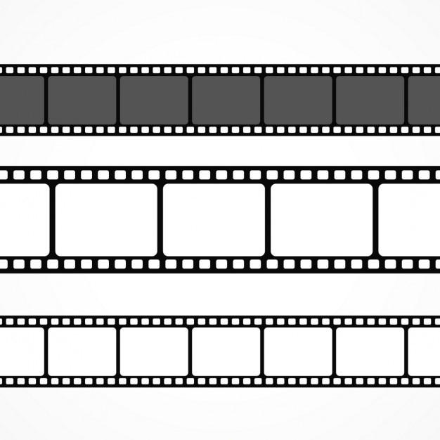 Wektor kolekcja taśmy filmowej w różnych rozmiarach Darmowych Wektorów