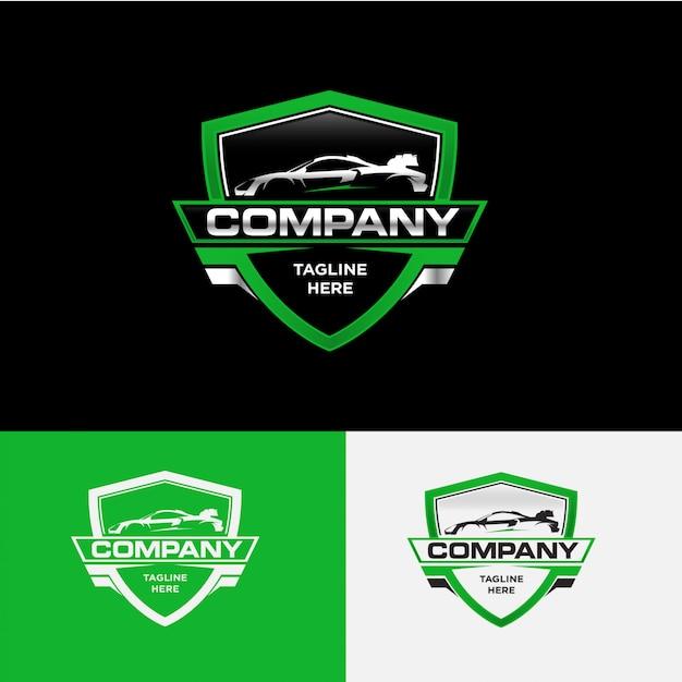 Wektor Koncepcja Logo Firmy Motoryzacyjnej Premium Wektorów