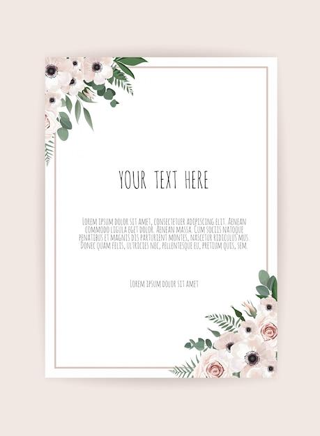 Wektor kwiatowy wzór karty Premium Wektorów