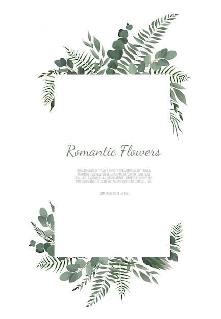 Wektor kwiatowy wzór karty. Premium Wektorów