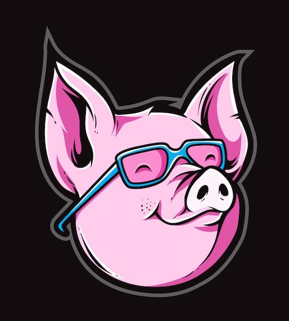 Wektor ładny świnia Premium Wektorów