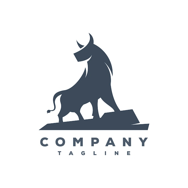 Wektor logo byka Premium Wektorów