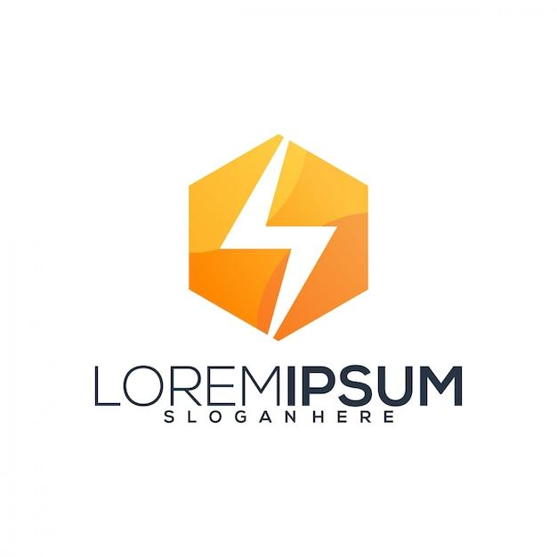 Wektor logo energii Premium Wektorów