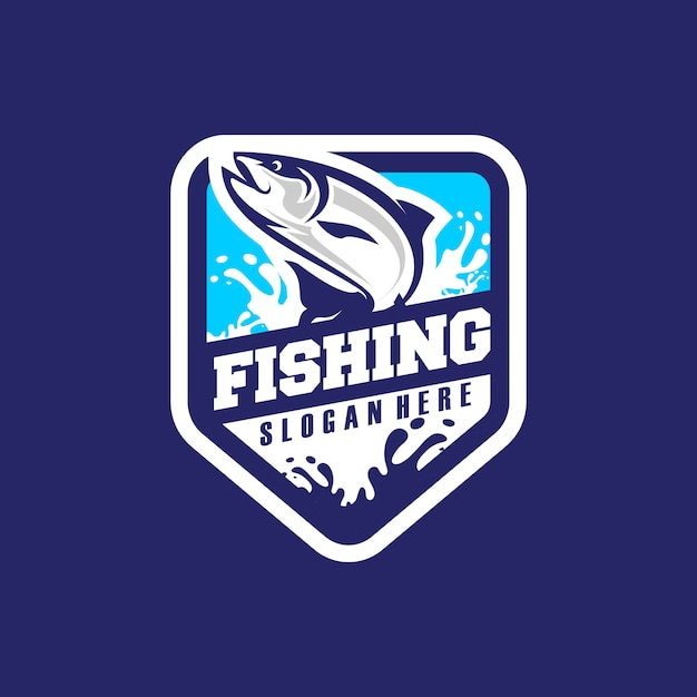 Wektor Logo Fishing Premium Wektorów