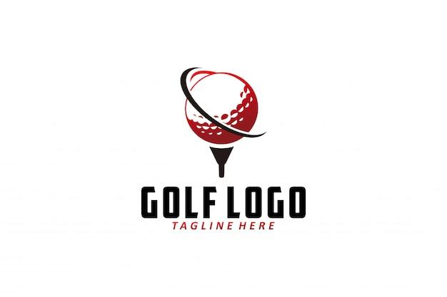 Wektor Logo Golfa Na Białym Tle Premium Wektorów