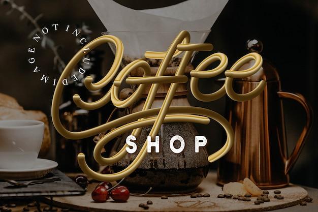 Wektor logo kawiarni Premium Wektorów
