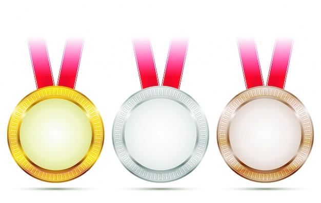 Wektor medale osiągnięcia Premium Wektorów