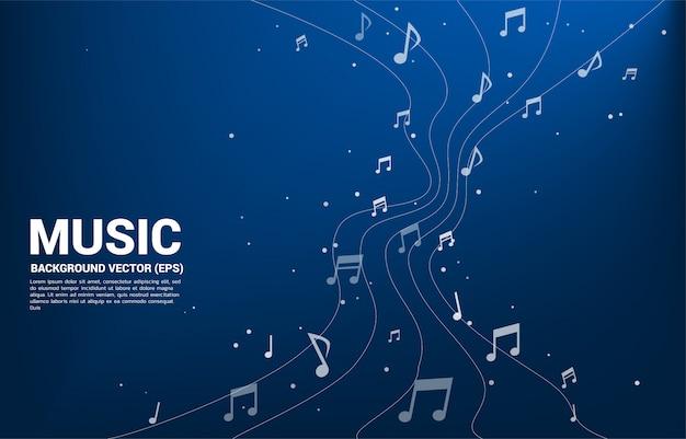 Wektor melodii nuty taniec przepływu Premium Wektorów