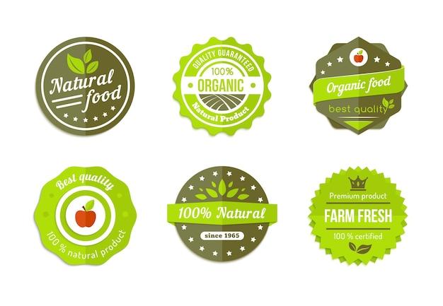 Wektor Naturalne Organiczne Odznaki Darmowych Wektorów