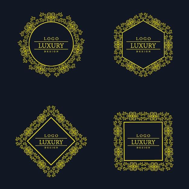 Wektor Niesamowite Luksusowe Wzory Logo Premium Wektorów