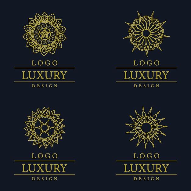 Wektor Niesamowite Luksusowe Wzory Logo Darmowych Wektorów