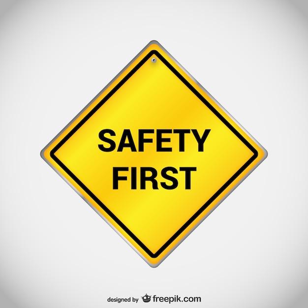 Wektor Pierwszy Znak Bezpieczeństwa Darmowych Wektorów