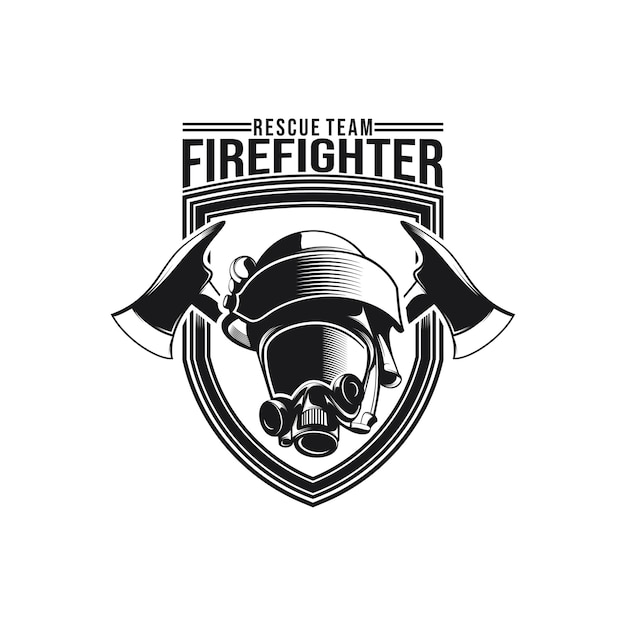 Wektor Projektowania Logo Strażaka Premium Wektorów