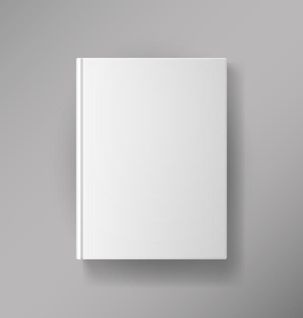 Wektor Pusta Okładka Książki Na Białym Tle Darmowych Wektorów