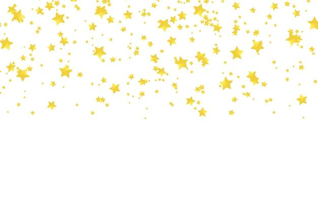 Wektor Realistyczne Złote Konfetti Gwiazdy Premium Wektorów