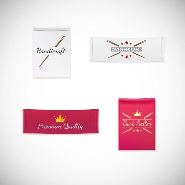 Wektor Realistyczny Tag Odzież Z Logo. Premium Wektorów