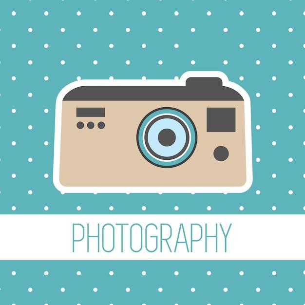 Wektor rocznika polaroid aparat Darmowych Wektorów