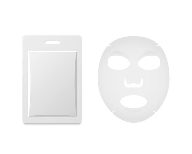 Wektor saszetka maski. Premium Wektorów