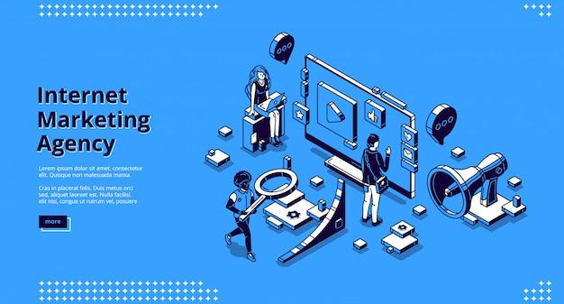 Wektor Strony Docelowej Dla Agencji Marketingu Internetowego Darmowych Wektorów