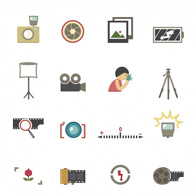 Wektor symbol kamery Premium Wektorów