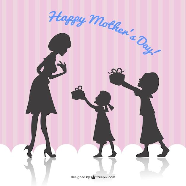 Wektor szczęśliwy dzień matki karty Darmowych Wektorów