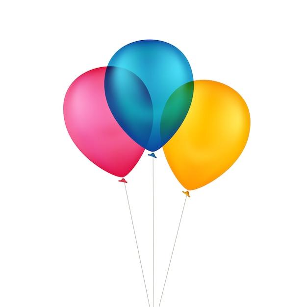 Wektor Wielobarwny Kolorowe Balony Premium Wektorów