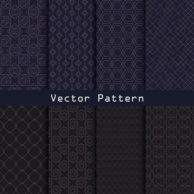 Wektor Wzór Kolekcji Geometryczny Luksusowy Wzór Premium Wektorów