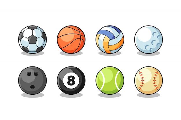Wektor zbiory piłki sportowe Premium Wektorów